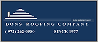 Website for Don's Roofing Company