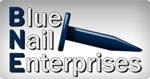 Website for Blue Nail Enterprises, LLC