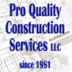 Website for Pro Quality Construction Services, LLC