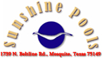 Website for Sunshine Pools & Billiards