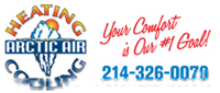 Website for Arctic Air Heating and Cooling