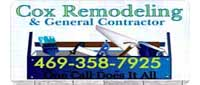 Website for Cox Remodeling