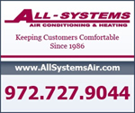 Website for All Systems Air Conditioning & Heating