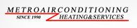 Website for Metro Air Conditioning Heating & Service