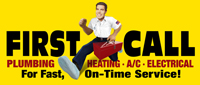 Website for First Call Plumbing, Electric & Air