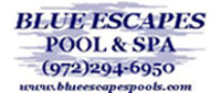 Website for Blue Escapes Pool & Spa