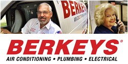Website for Berkeys Air Conditioning & Plumbing