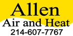 Website for Allen Air & Heat, LLC
