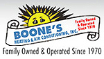 Website for Boone's Heating & Air Conditioning, Inc.