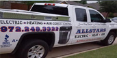 Website for Allstars Air Conditioning Electric & Heating