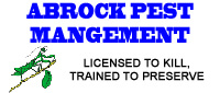 Website for Abrock Pest Management, Inc.