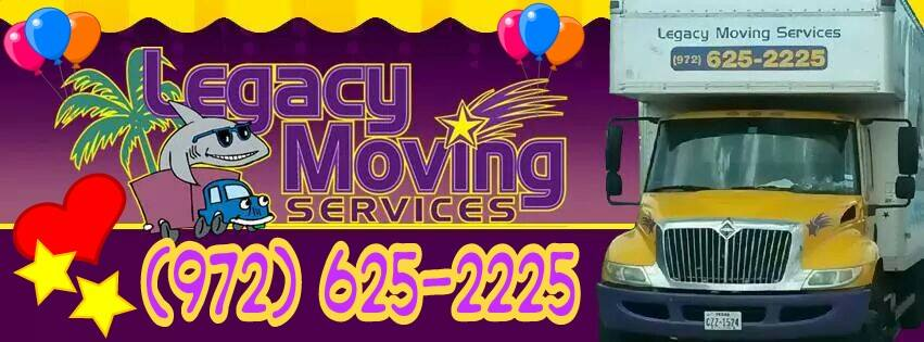 Website for Legacy Moving Services, LLC.
