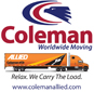 Website for Coleman American Moving Services, Inc