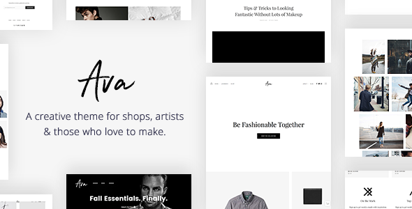 Ava - Creative Shop & Portfolio WordPress Theme for Professionals