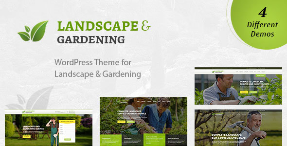Landscape - WordPress Theme for Gardening and Landscaping