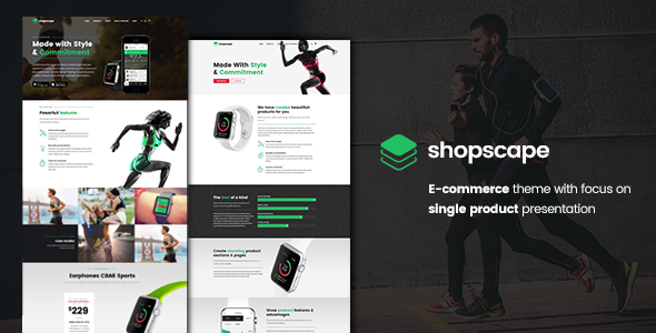 Shopscape - Single Product WordPress Theme