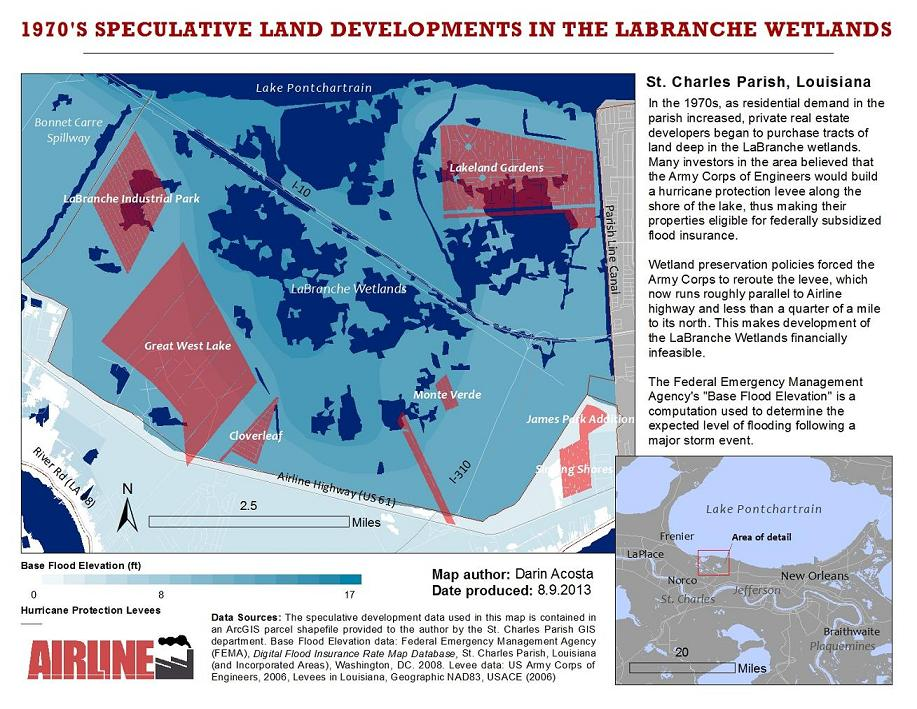 Speculative Land Development in the Louisiana LaBranche Wetlands