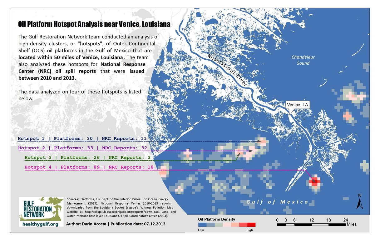 Oil Platform Hotspot Analysis in the Gulf of Mexico