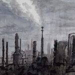Shell Oil Refinery Watercolor - Darin Joseph Acosta
