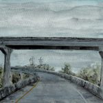 I-10 On Ramp. Watercolor. Darin Acosta.