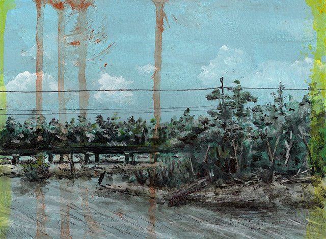 Bonnet Carre Spillway Painting - Darin Acosta