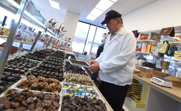 Paul Wockenfuss, president and third generation family owner of Wockenfuss Candies at the factory and store on Harford Road.