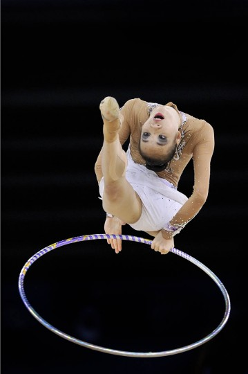 Wong Poh San of Malaysia competes in the Individual All-Round Final of the Rhythmic Gymnastics event at The Hydro venue at the 2014 Commonwealth Games in Glasgow July 25, 2014. (Andy Buchanan/Getty Images)
