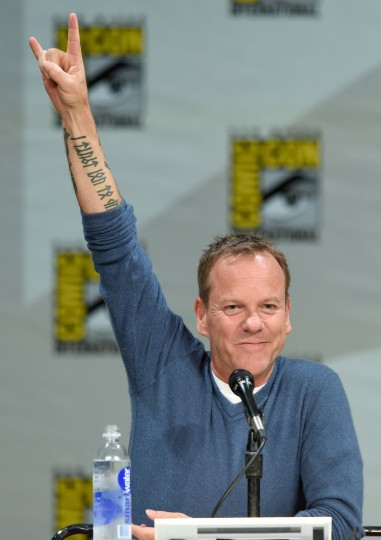 "Actor Kiefer Sutherland attends the ""24: Live Another Day"" panel during Comic-Con International 2014 at the San Diego Convention Center on July 24, 2014 in San Diego, California. (Ethan Miller/Getty Images)"