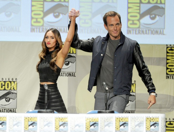 Actors Megan Fox and Will Arnett attend the Paramount Studios presentation during Comic-Con International 2014 at the San Diego Convention Center on July 24, 2014 in San Diego, California. (Kevin Winter/Getty Images)