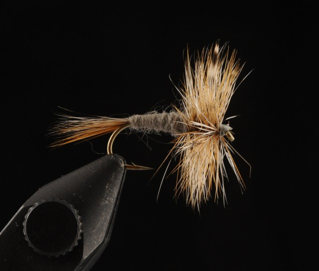 This is the Adams Dry Fly. A traditional dry fly has been used for centuries in trout fishing. (Kenneth K. Lam/Baltimore Sun)