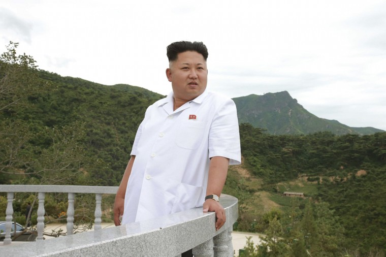 North Korean leader Kim Jong Un gives field guidance at the Kosan Fruit Farm in this undated photo released by North Korea's Korean Central News Agency (KCNA) in Pyongyang July 24, 2014. (KCNA/Reuters)