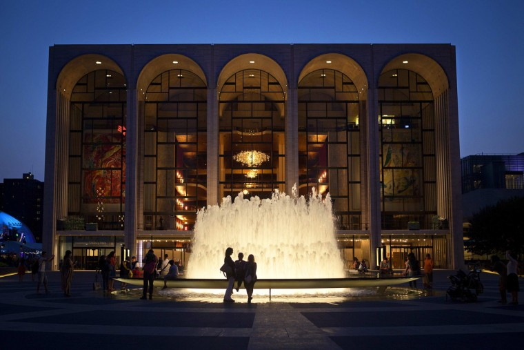 The Metropolitan Opera House is pictured at Lincoln Center in New York July 30, 2014. The Opera is in the midst of an ongoing labour dispute that may result in a lockout or a strike in coming days, according to local media. REUTERS/Carlo Allegri