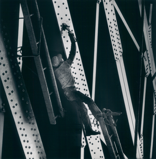July 28, 1968: Actrobats with paint brushes?They're known as steel painters and they specialize in bridges, towers and outdoor tanks. (Richard Stacks)