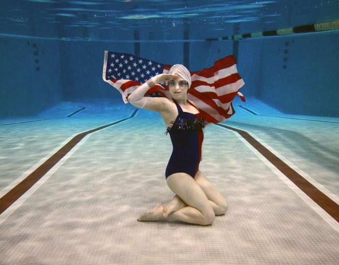 Fluid Movement's Star-Spangled Swimmer! A War of 1812 Water Ballet. (Photo by Zachariah Handler)