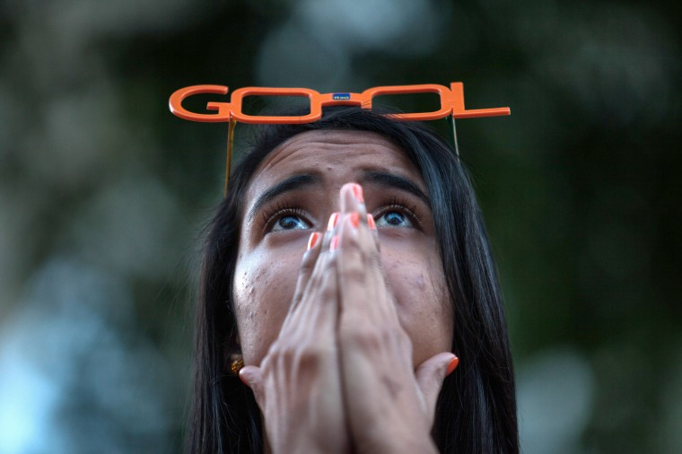 A Brazil fan watches the third place match between Brazil and the Netherlands at the Valley Anhangabau Center during the 2014 FIFA World Cup in Sao Paulo, Brazil. (Victor Moriyama/Getty Images)