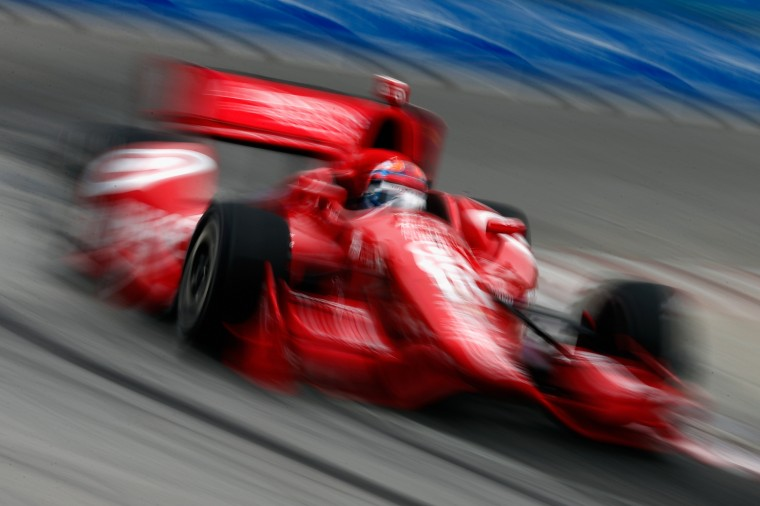 Tony Kanaan of Brazil, drives the #10 Target Chip Ganassi Racing Dallara Chevrolet during qualifying for the Verizon IndyCar Series Honda Indy Toronto on the streets of Toronto,Canada. (Chris Trotman/Getty Images)