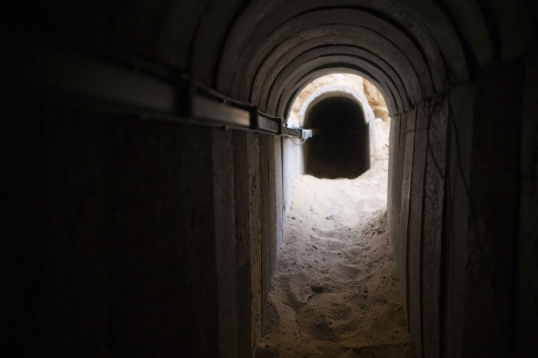 A tunnel exposed by the Israeli military is seen on the Israeli side of the Israel-Gaza border on March 27, 2014. (REUTERS/Amir Cohen)