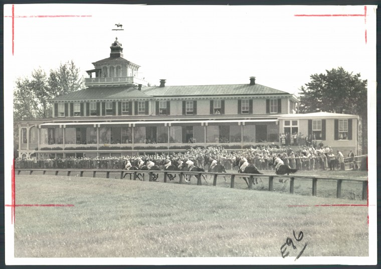 The Pimlico Race Course, just north of Central Park Heights. (Baltimore Sun file photo)