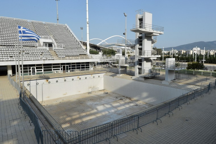 General view of the Olympic Aquatic Center in Athens, Greece on July 31, 2014. (Milos Bicanski/Getty Images)