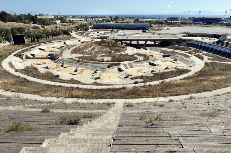 General view of the Olympic Canoe/Kayak Slalom Center at the Helliniko Olympic complex in Athens, Greece on July 31, 2014. (Milos Bicanski/Getty Images)