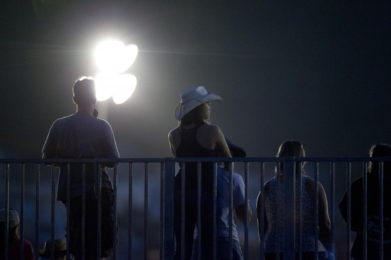 The Bull Blast continues into the night at the 69th Annual Howard County Fair in West Friendship on Monday, August 4, 2014. (Jen Rynda/BSMG)