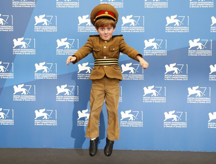 "Actor Dachi Orvelashvili poses during the photo call for the movie ""The President"" at the 71st Venice Film Festival. (Tony Gentile/Reuters)"