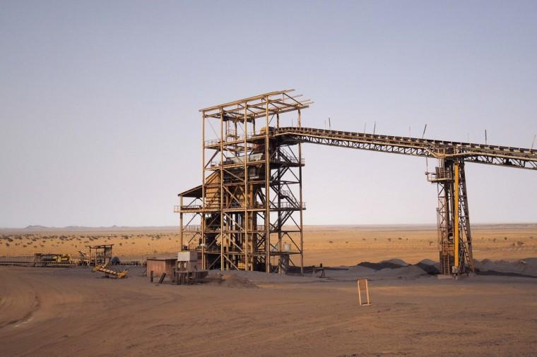 A machine which breaks down iron ore is seen at the SNIM TO-14 iron ore mine in Zouerate June 23, 2014. (Joe Penney/Reuters)