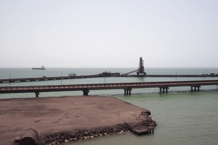 The SNIM port is seen in Nouadhibou June 25, 2014. (Joe Penney/Reuters)
