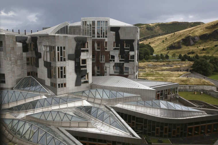 "A view of the Scottish Parliament building in Edinburgh August 21, 2014. Several recent polls have shown support for independence pushing higher. But the most recent ""poll of polls"", on Aug. 15, which was based on an average of the last six polls and excluded undecided respondents, found support for a breakaway stood at 43 percent against 57 percent for remaining within Britain. Picture taken August 21, 2014. (Paul Hackett/Reuters)"
