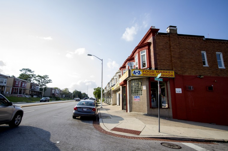 Forty-some liquor stores sit along stretches of Park Heights Avenue and Reisterstown Road, more than most areas of the city per-capita. (Kalani Gordon/The Baltimore Sun/August 2014)