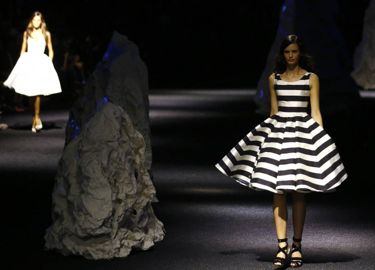 A model presents a creation from the Philipp Plein Spring/Summer 2015 collection during Milan Fashion Week September 19, 2014. (Stefano Rellandini/Reuters photo)