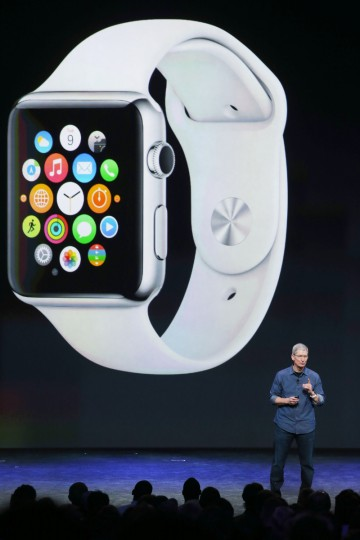 Apple CEO Tim Cook announces the iPhone 6 during an Apple special event at the Flint Center for the Performing Arts on September 9, 2014 in Cupertino, California. Apple unveiled the Apple Watch wearable tech and two new iPhones, the iPhone 6 and iPhone 6 Plus. Justin Sullivan/Getty Images