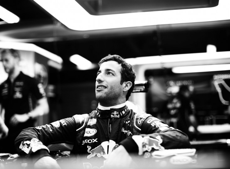 Daniel Ricciardo of Australia and Infiniti Red Bull Racing sits in his car in the team garage during Previews ahead of the F1 Grand Prix of Italy at Autodromo di Monza on September 4, 2014 in Monza, Italy. (Photo by Adam Pretty/Getty Images)