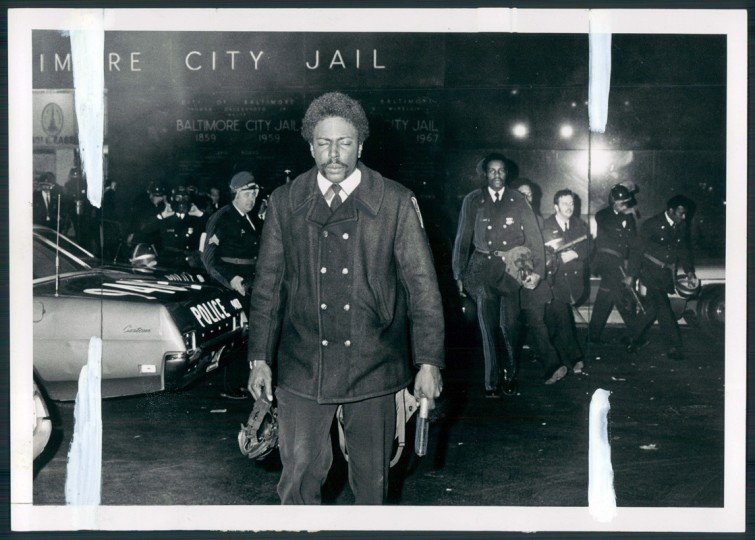 A city jail guard eyes bothered by tear gas leaves jail last night following disturbance. Some inmates threw food, others refused to return to their cells. (Irving Phillipps/Sun file photo/Jan. 1973)